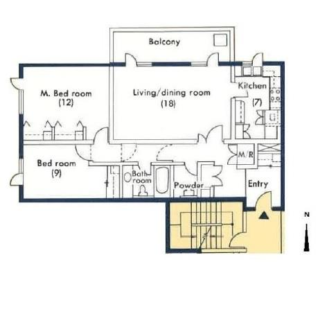 Unit details of lanai 1177 2f rental apartment in tokyo for Lanai structure